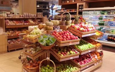 Торговое оборудование для овощного отдела магазина