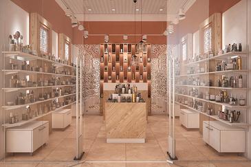 Дизайн торгового оборудования для парфюмерного отдела