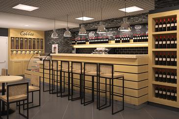Дизайн-проект зоны кафе в супермаркете