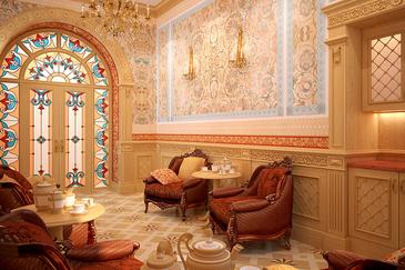 Дизайн интерьера чайной комнтаты в гостинице