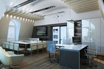Дизайн-проект интерьера офиса в стиле минимализм