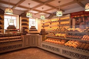 Дизайн торговой мебели для пекарни