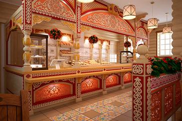 Дизайн-проект кафе в русском стиле