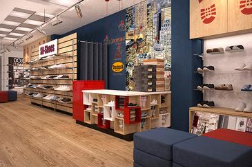 Дизайн-проект торгового оборудования для обувного шоурума