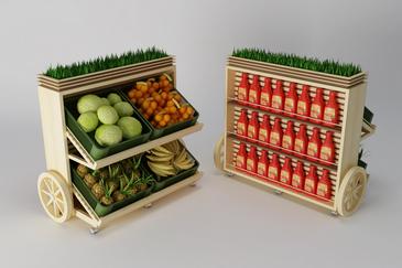 Дизайн торгового оборудования для сети супермаркетов