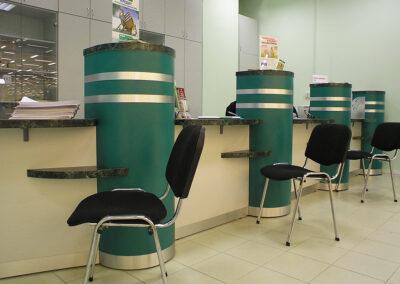 Мебель для банка СБЕРБАНК