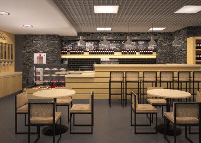 Разработка дизайна зоны кафе