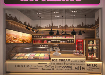 Дизайн проект кафе-мороженого
