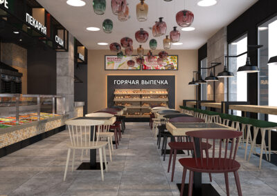 Дизайн-проект для супермаркета «Лэнд»