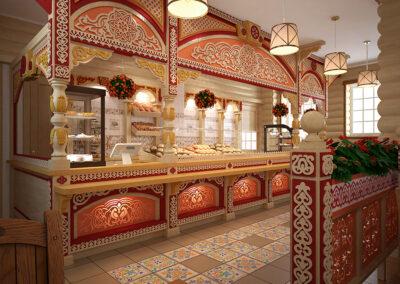 Кафе в русском стиле