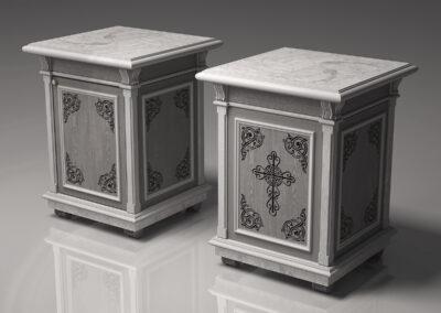 Изготовление мебели для храма из массива дуба
